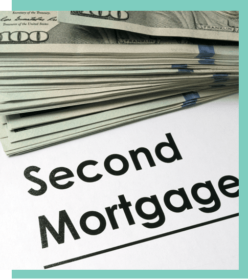 second Mortgage texture with money